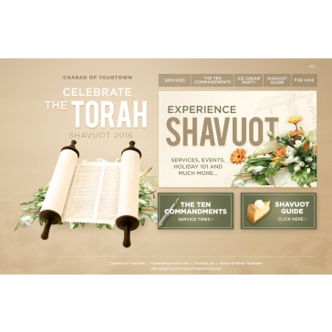 Shavuot Minisite