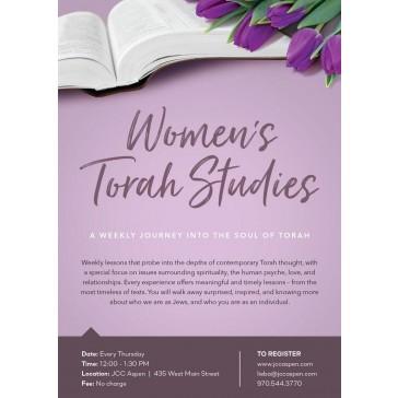 Women's Torah Studies Flyer