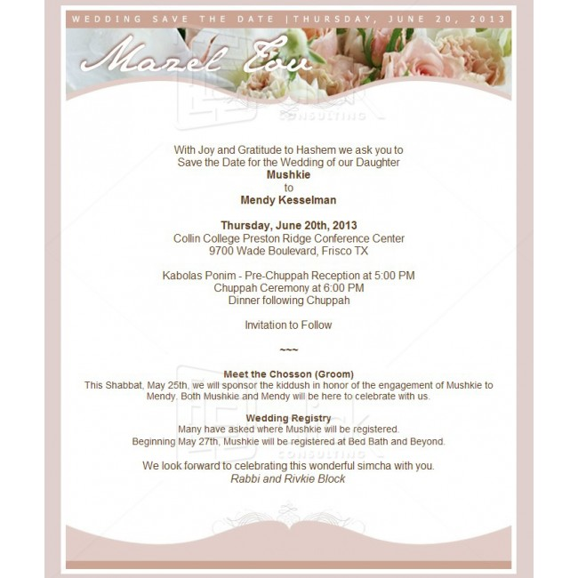 Contoh Wedding Invitation Via Email