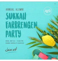 Sukkah Farbrengen Party Social Media Post