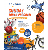 Boy's Sunday Torah Program Flyer