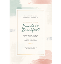 Breakfast Invitation 2-Sided