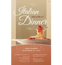 Italian Shabbat Dinner