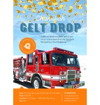 Chanukah Gelt Drop Flyer