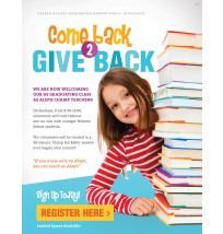 Come Back Give Back Flyer 1