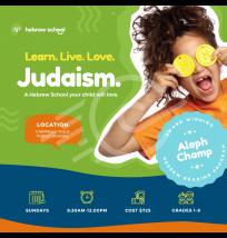 Hebrew School Social Media Post