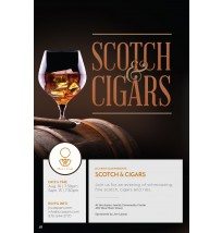 Scotch & Cigars Flyer