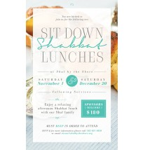 Shabbat Kiddush Lunch Flyer