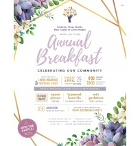 Breakfast and Raffle Invitation (Double Sided)