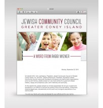 Chabad Weekly Email Template 2