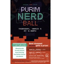 Purim Nerd Ball Postcard