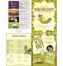 High Holidays 4-Panel Brochure