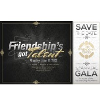 Friendship's got Talent Save the Date Mailer
