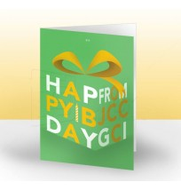 Happy Birthday Card - Front Panel Design
