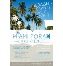 Miami Torah Experience Mailer