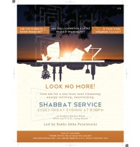 Shabbat Service Flyer 1