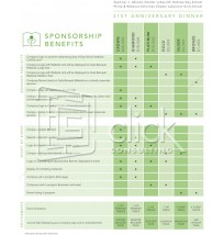 Corporate Sponsorship Package - 3 pages (Cover letter, chart; form)