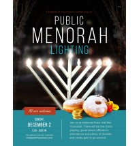 Chanukah Public Menorah Flyer