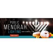Chanukah Public Menorah Web Banner