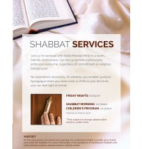 Shabbat Service Flyer