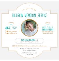 Shloshim Memorial Gathering Invitation