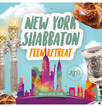 NY Shabbaton Teen Retreat Social Media Post