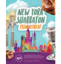 NY Shabbaton Teen Retreat Flyer