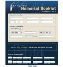 Yizkor Memorial Booklet  Web Form