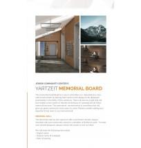 Yartzeit Memorial Board Flyer